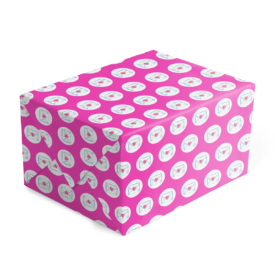 gift wrap featuring a love letter image.