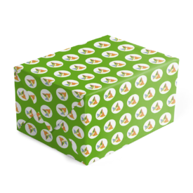 party hats preppy gift wrap printed on White paper.
