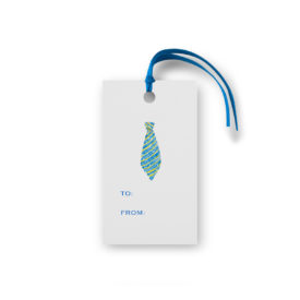 tie glittered gift tag printed on White Paper.