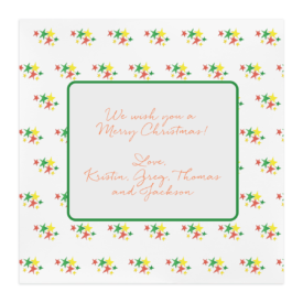 Holiday Stars Square Motif Photo Card