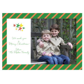 Holiday Stars Striped 5x7 Photo Card