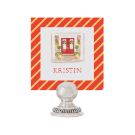 Holiday House Place Card printed on White paper.