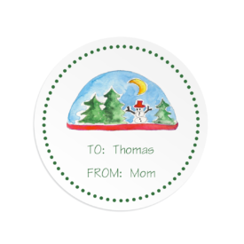 Snowglobe Gift Sticker