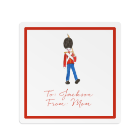 Toy Soldier Square Gift Sticker