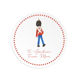 Toy Soldier Round Gift Sticker