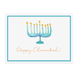 Menorah Paper Placemat printed on White paper.