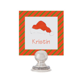 Santa Hat Place Card printed on White paper.