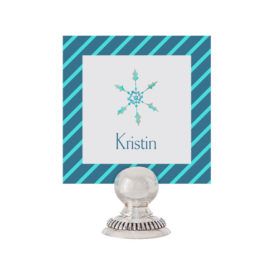 Snowflake Place Card printed on White paper.