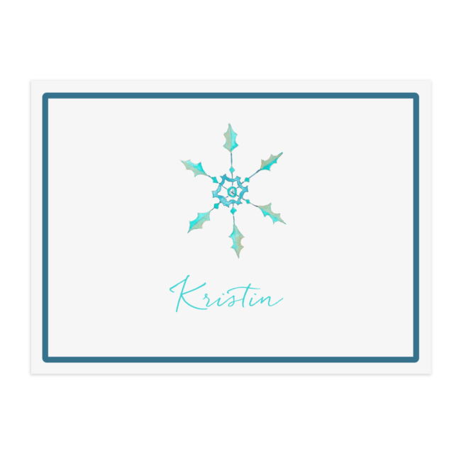Snowflake Paper Placemat printed on White paper.