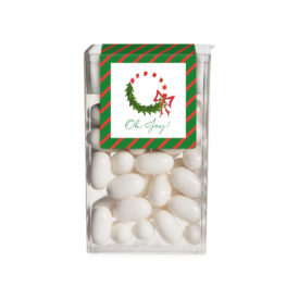 Candy Cane Wreath Tic Tac Label