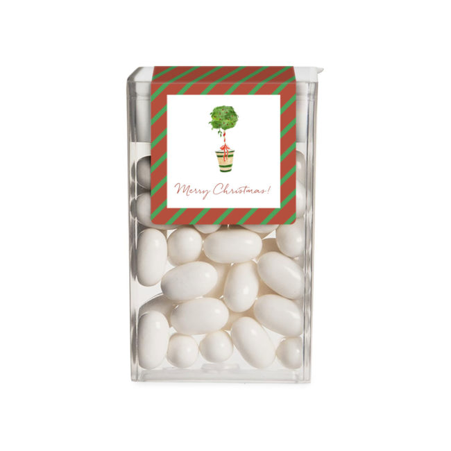 Holiday Topiary Tic Tac Label
