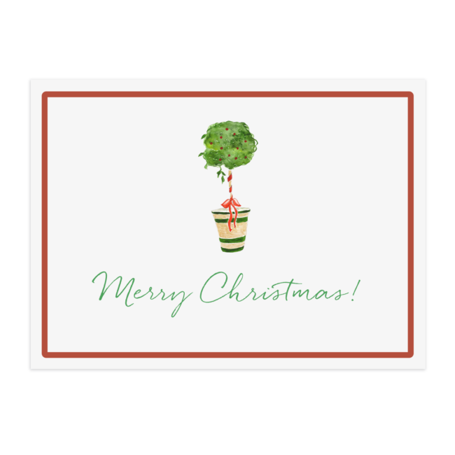 Holiday Topiary Paper Placemat printed on White paper.