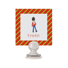 Toy Soldier Place Card printed on White paper.