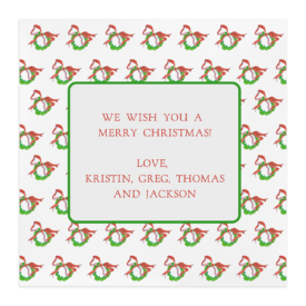 Wreath with Lights Square Motif Photo Card