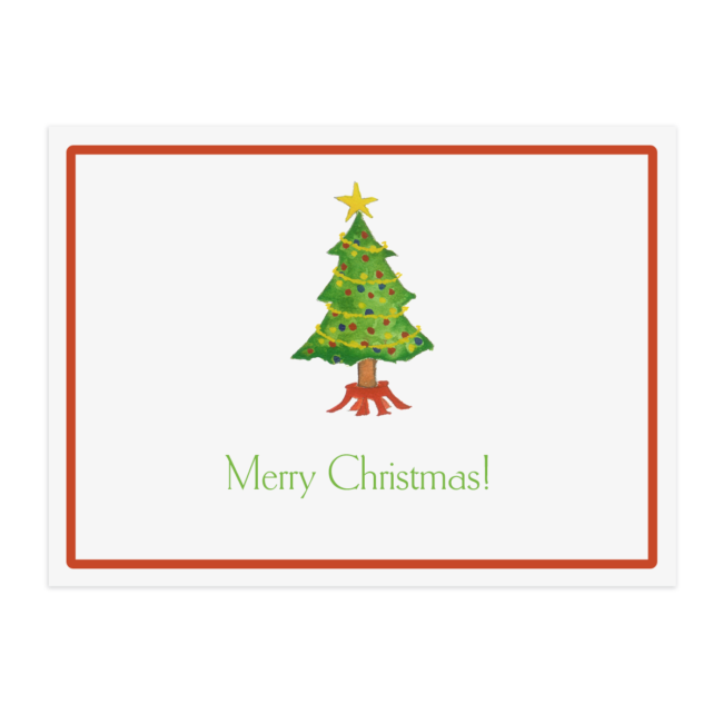 Christmas Tree Paper Placemat printed on White paper.
