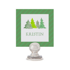 Christmas Trees Place Card printed on White paper.