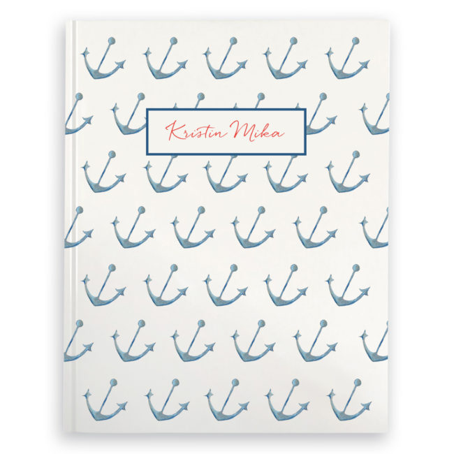 Anchor image adorns a Journal with blank pages.