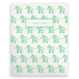 Elephant image adorns a Journal with blank pages.