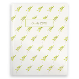 Fern image adorns a Journal with blank pages.