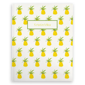 Blank Journal with Pineapples.
