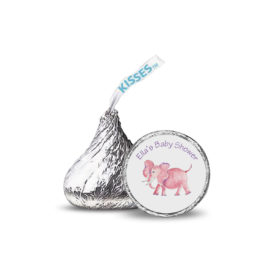 Pink Elephant Candy Sticker