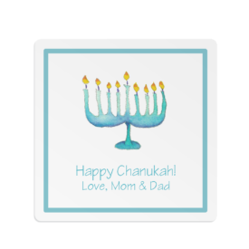 Menorah Square Gift Sticker