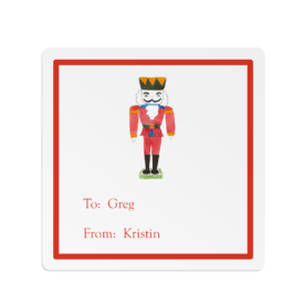 Nutcracker Square Gift Sticker