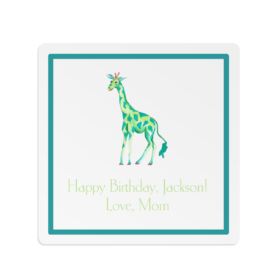 giraffe square gift sticker