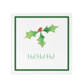 Holly Square Gift Sticker