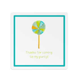 Lollypop image adorns a Square Gift Sticker