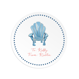 adirondack chair round gift sticker
