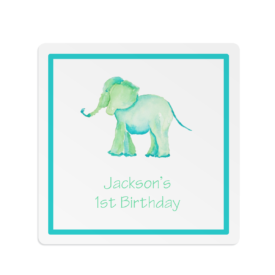 elephant square gift sticker