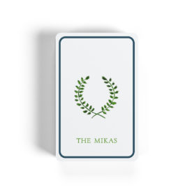 laurel wreath image on classic Bicycle playing cards