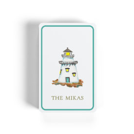 lighthouse image printed on classic playing cards