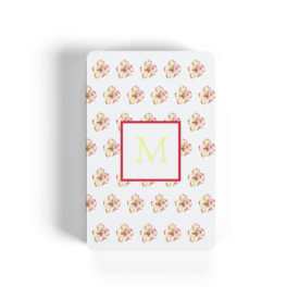 magnolia image adorns classic playing cards