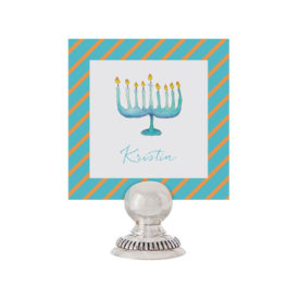 Menorah Place Card printed on White paper.
