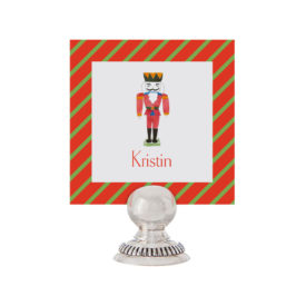 Nutcracker Place Card printed on White paper.