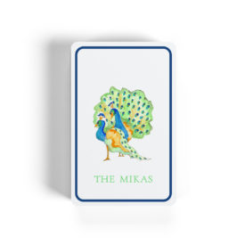 peacock image on classic playing cards