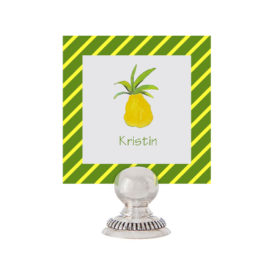 Pineapple Place Card printed on White Paper.