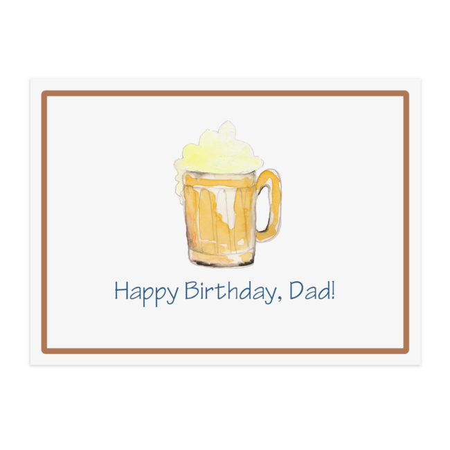 beer image adorns a paper placemat that is printed on White paper.