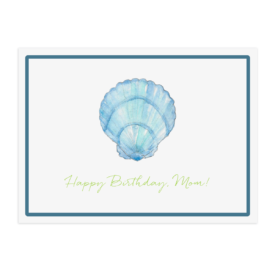blue shell placemat printed on White paper.
