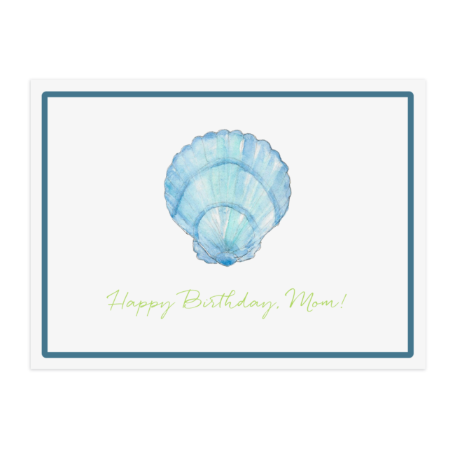blue shell placemat