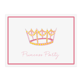 crown image adorns a paper placemat printed on White paper.