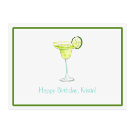 margarita glass image adorns a placemat printed on White paper.