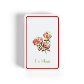 red hydrangea Bicycle classic playing cards