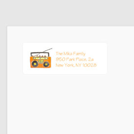 boom box return address label