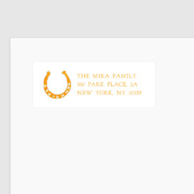 return address stickers horseshoe