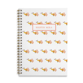 bee spiral bound notebook