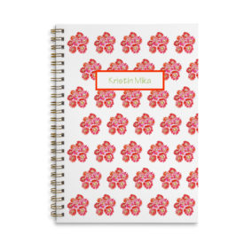 gerber daisies spiral bound notebook with blank pages.