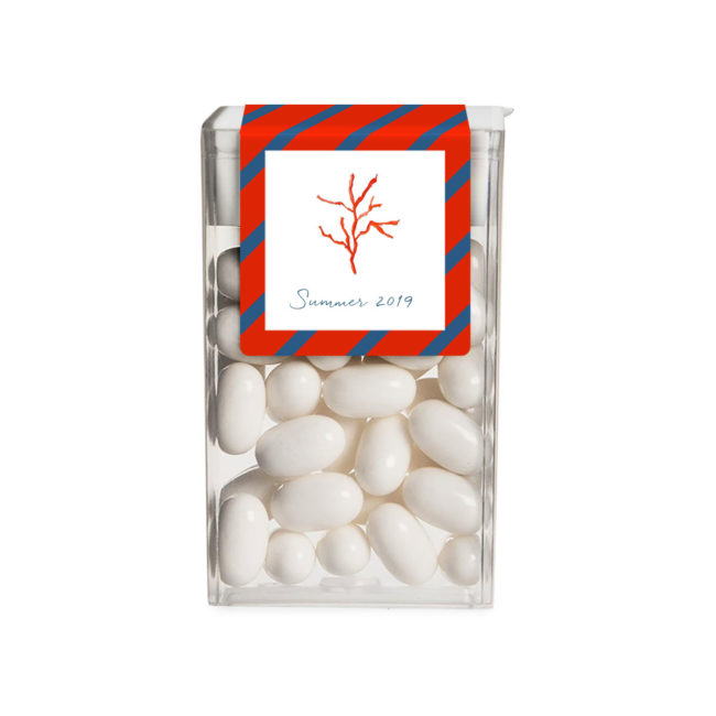 Red Coral image adorns a Tic Tac Label